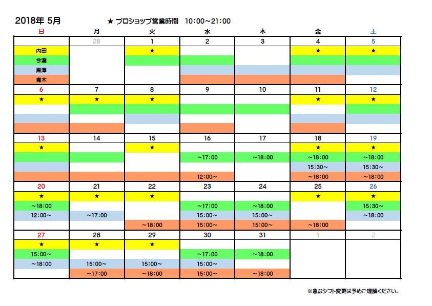 ドリラーシフト表
